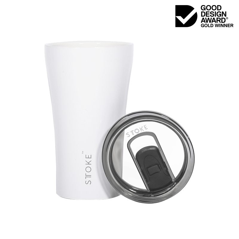 Coffee Cup Large - Angel White - Gloss