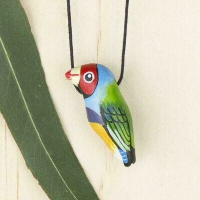 Whistle Necklace - Gouldian Finch