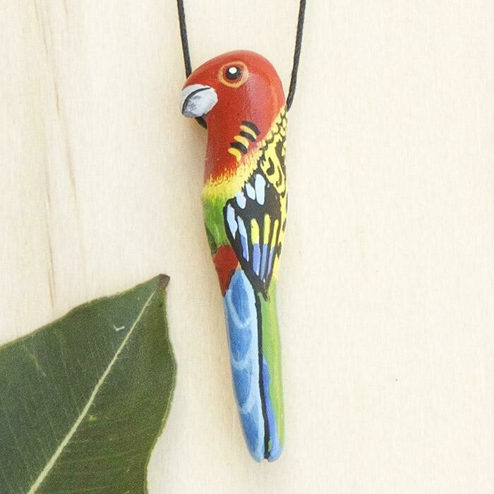 Whistle Necklace - Eastern Rosella