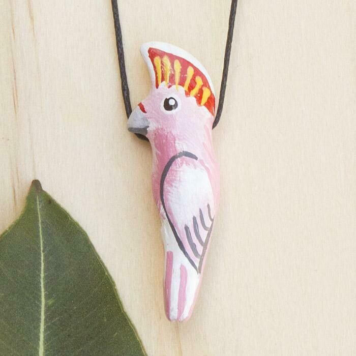 Whistle Necklace - Major-Mitchell Cockatoo