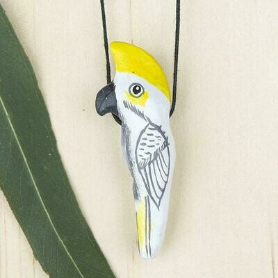 Whistle Necklace - Sulphur Crested Cockatoo