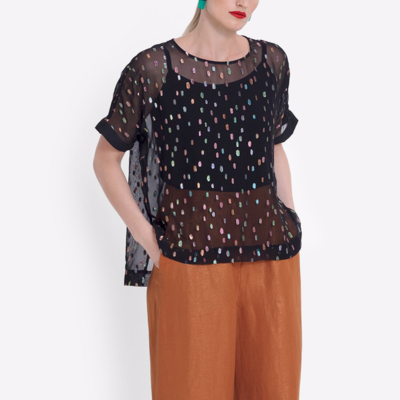 Bovrup Top - Black/Multi