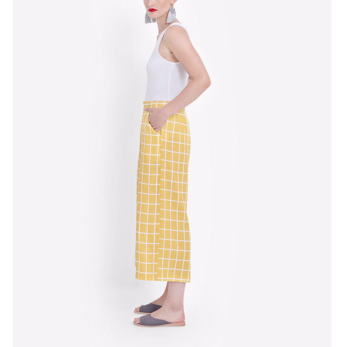 Hopen Pants - Yellow/White