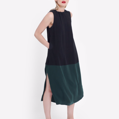 Molger Dress - Forest/Black