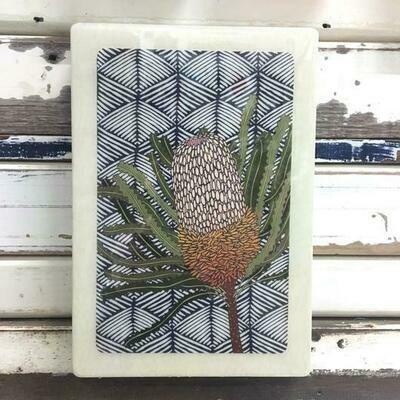 Maxi Woodblock - Banksia Hookeriana