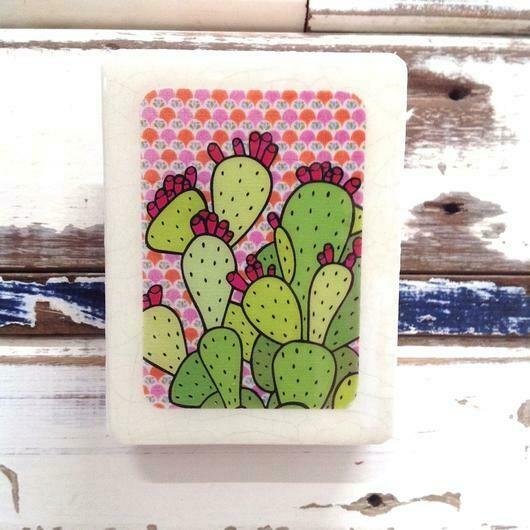 Mini Woodblock - Cactus Juice