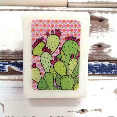 Mini Woodblock - Cactus Juice