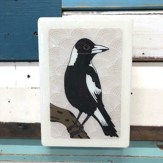 Medi Woodblock - Magpie
