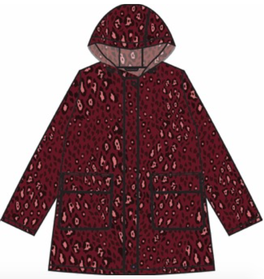 Womans Anyday Raincoat - Pink Leopard