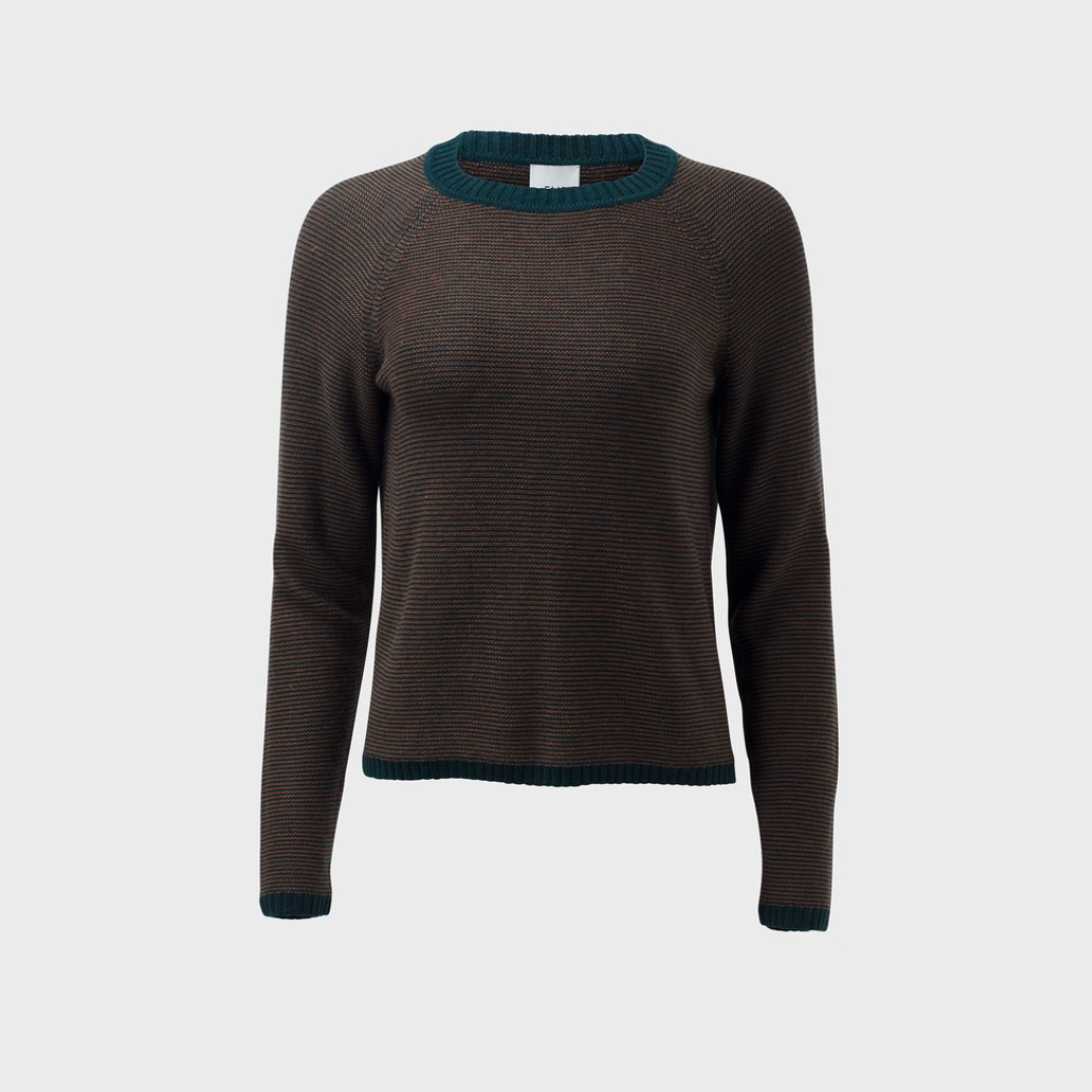 Cora Sweater - Pine / Nutmeg