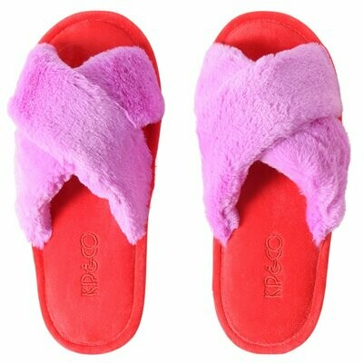 Adult Slippers - Raspberry Bubble