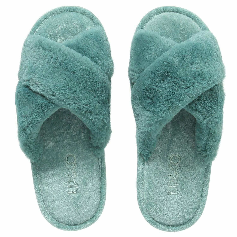 Adult Slippers - Jade Green