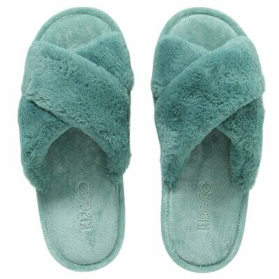 Adult Slippers - Jade Green