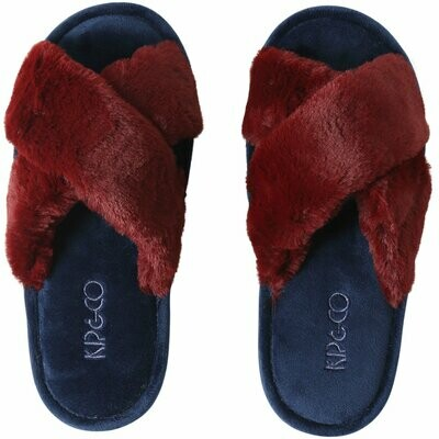 Adult Slippers - Midnight Merlot