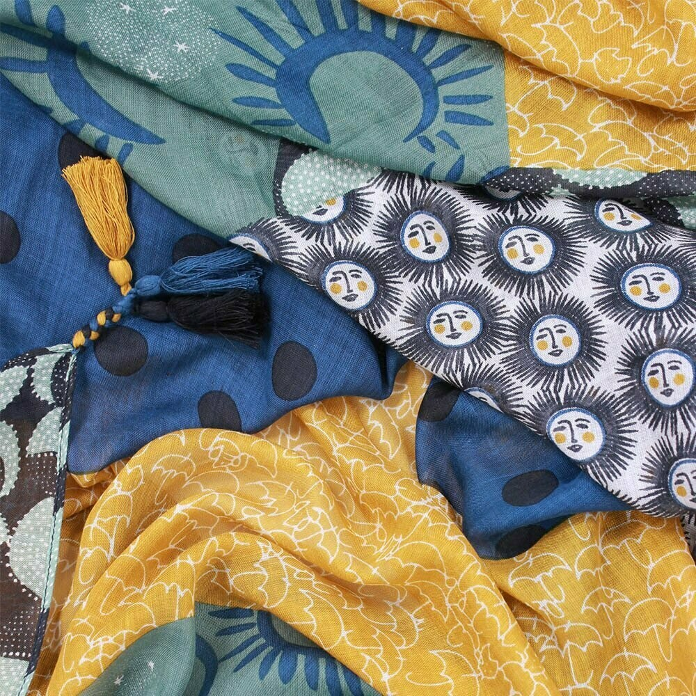 Mecca Printed Scarf - Tassels