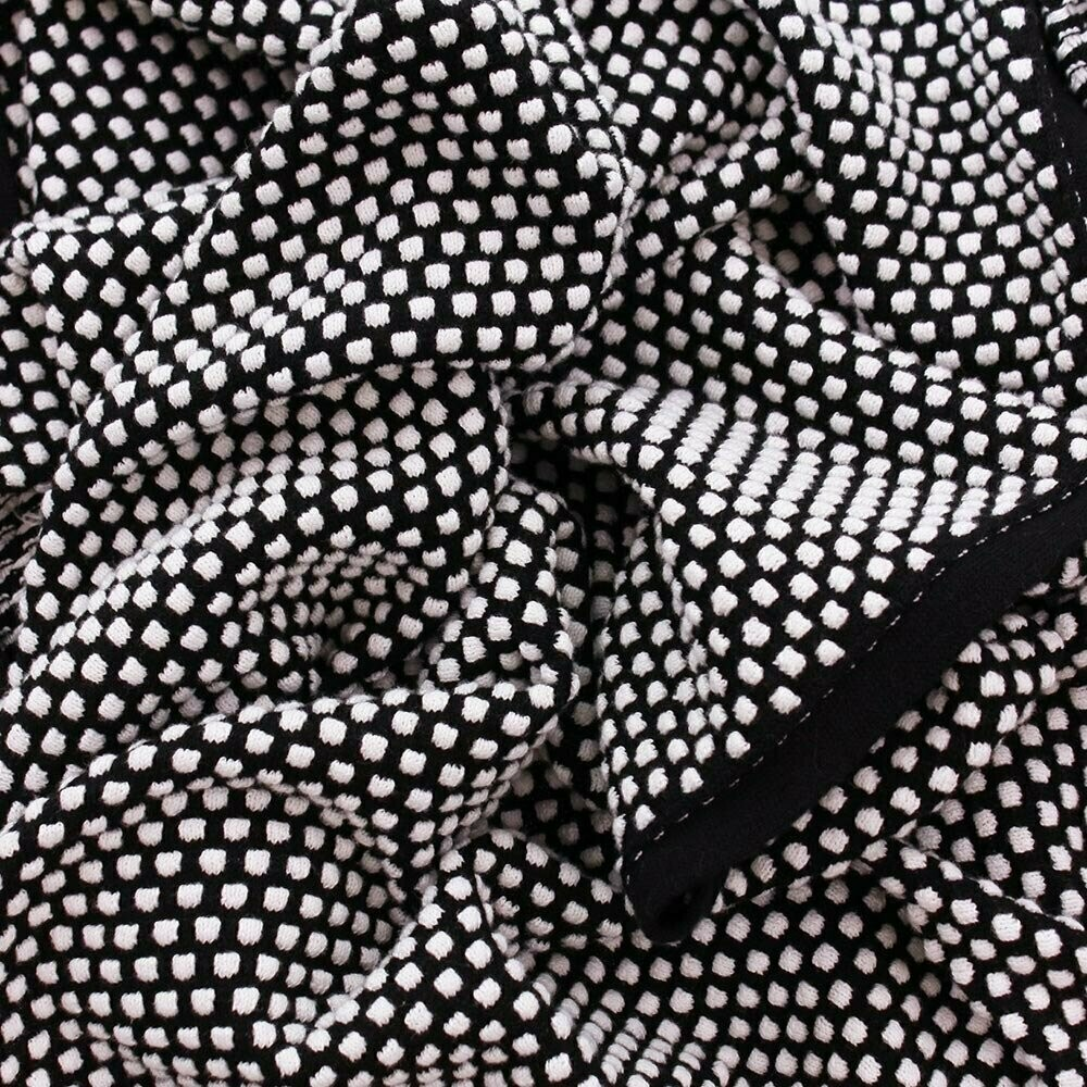 Remy Bubble Cotton Scarf - White/Black
