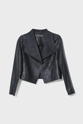 Fine Leather Jacket - Black - Size XS