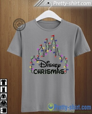 Disney Christmas Castle lights - fleece sweatshirt, there's no place like home for the holidays, mickey's very merry christmas party, disney christmas, disney sweater, disney sweatshirt