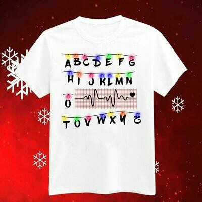 ABCDEF Alphabet PQRST Wave Heartbeat Nurse Christmas Lights Shirt, Funny Nurse Christmas Shirt, Ugly Christmas Sweater Hoodie For Women Men, christmas shirt, christmas tshirt, shirt for christmas tee