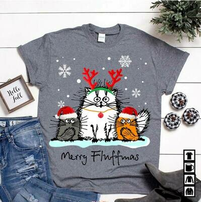 Merry Fluffmas shirt Funny Owl Fluff You Owl Shirt For Women Girls Christmas Gift, Fluff you you fluffin fluff Cat t-shirt shirt Fluff you fluffin tumblr crazy cat lady cat love animal women gift tee