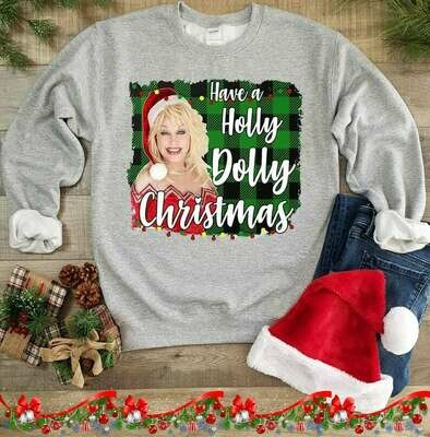 Have A Holly Dolly Christmas,Funny Woman Holiday Shirt,Christmas Shirt,Women'S Christmas Shirt, Winter Shirt, Holiday Shirt, Dolly Parton, Christmas shirt, holiday shirt, dolly parton tee