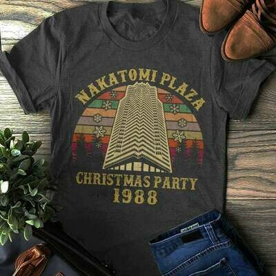 Die Hard Nakatomi Plaza Christmas Party 1988 T-shirt, Funny Christmans Shirt, Bella Canvas Shirt, Nakatomi Corporation Christmas Party Tower, Classic Movies shirt, Unisex Bella Canvas shirt