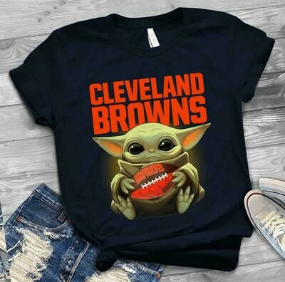 Cleveland Browns shirt Baby Yoda shirt, Star Wars t-shirt, Baby Yoda Star wars Shirt Cotton T-Shirt With Sayings, Disney Lilo Stitch, baby Yoda Star War, Yoda Stitch Friends, Star Wars Fanatics