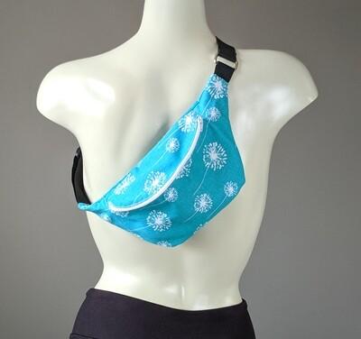 Turquoise Blue Dandelion Fanny Pack