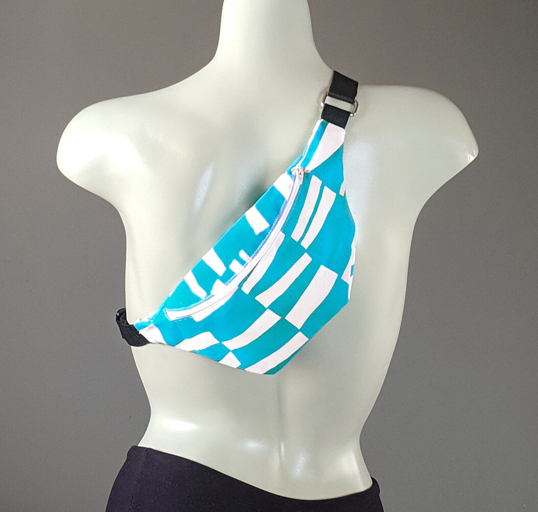Turquoise Blue Sticks Fanny Pack