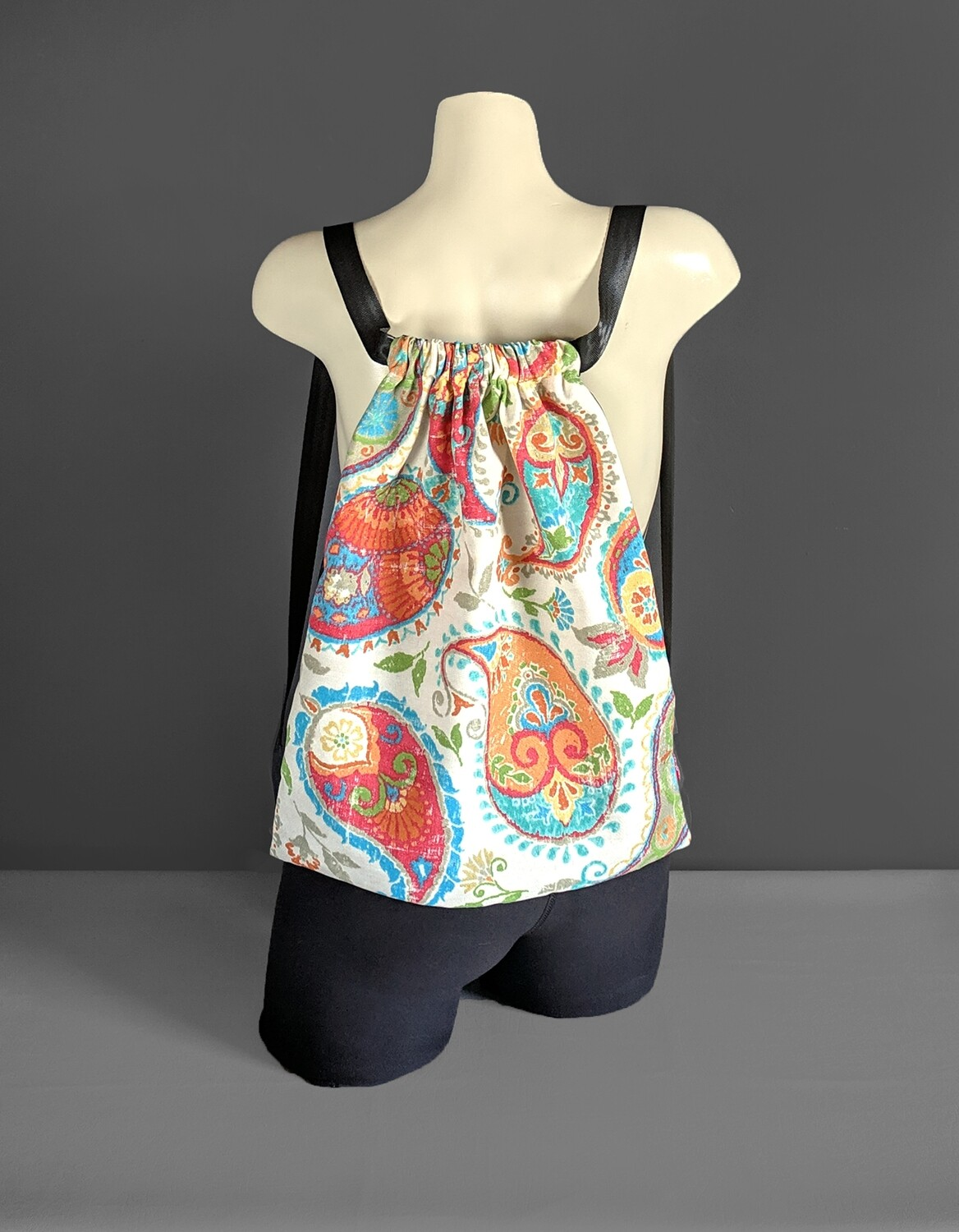 Colorful Paisely Drawstring Bag