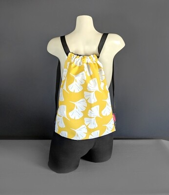 Yellow Hawaiian Drawstring Bag