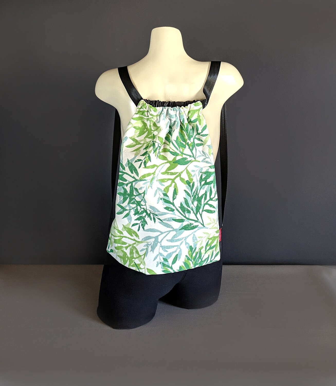 Green Leaves Drawstring Bag