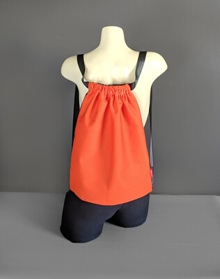 Sunbrella Orange Drawstring Bag