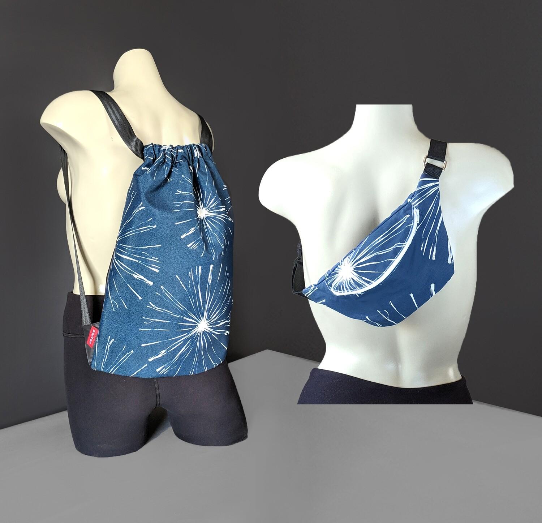 Sparks Navy Blue Bag Set