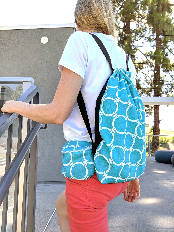 Coastal Turquoise Blue Bag Set