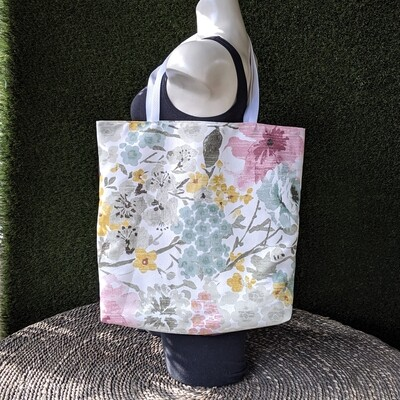 Watercolor Floral Shopper Tote