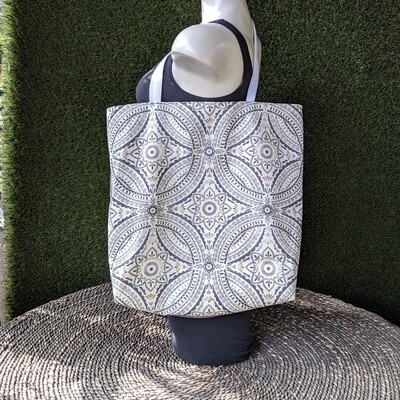Blue Pattern Shopper Tote