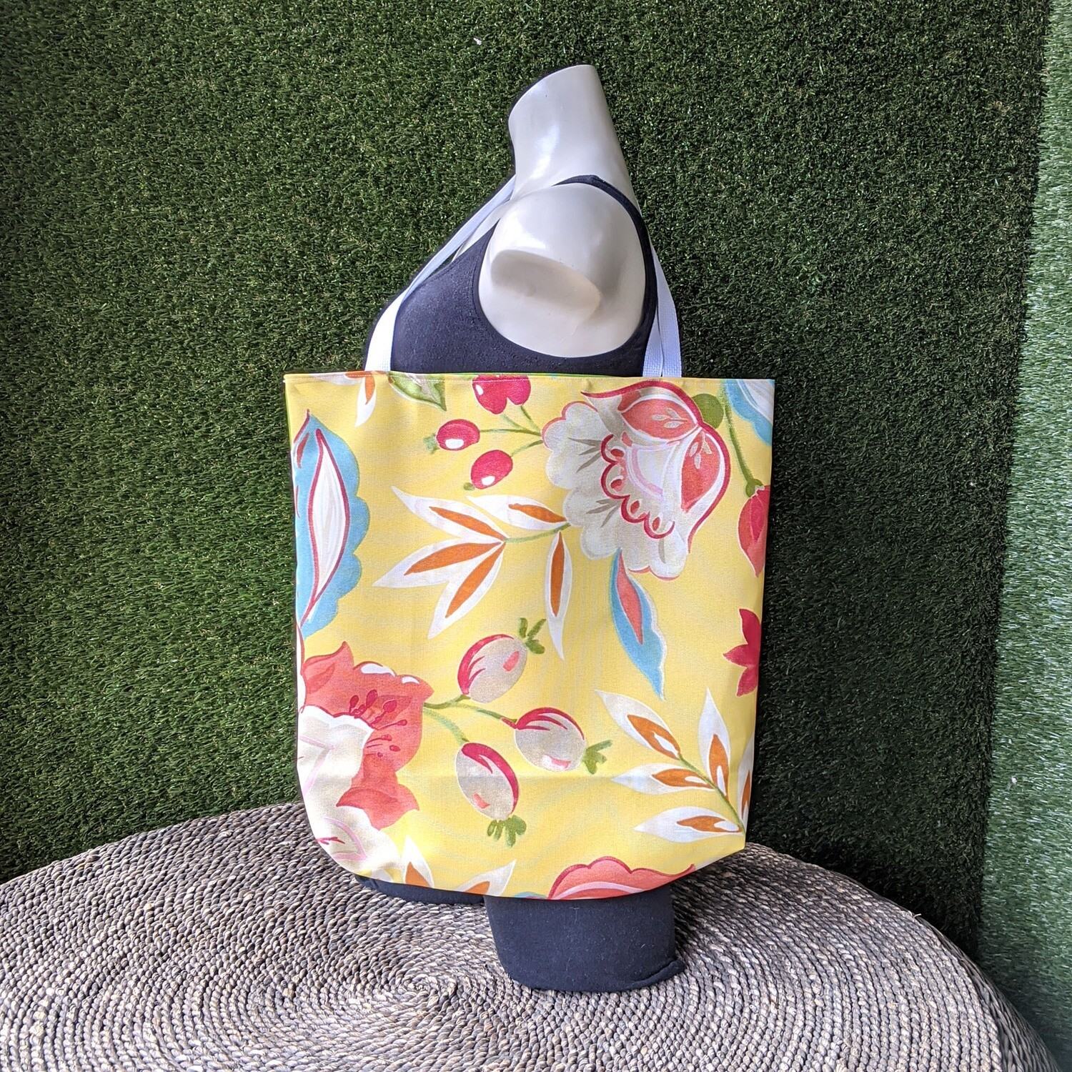 Yellow Floral Beach Tote