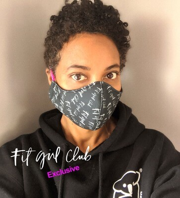 Fit Girl Club Reusable, Washable Face Masks