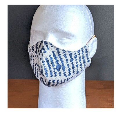 Denim Blue Spotty Face Masks, Small, Unisex, Washable, Reusable, Double Layer for Smog, Pollen, Dust, Smoke. Made in USA