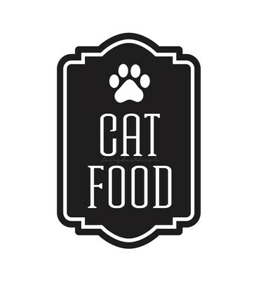 Cat Food Decal