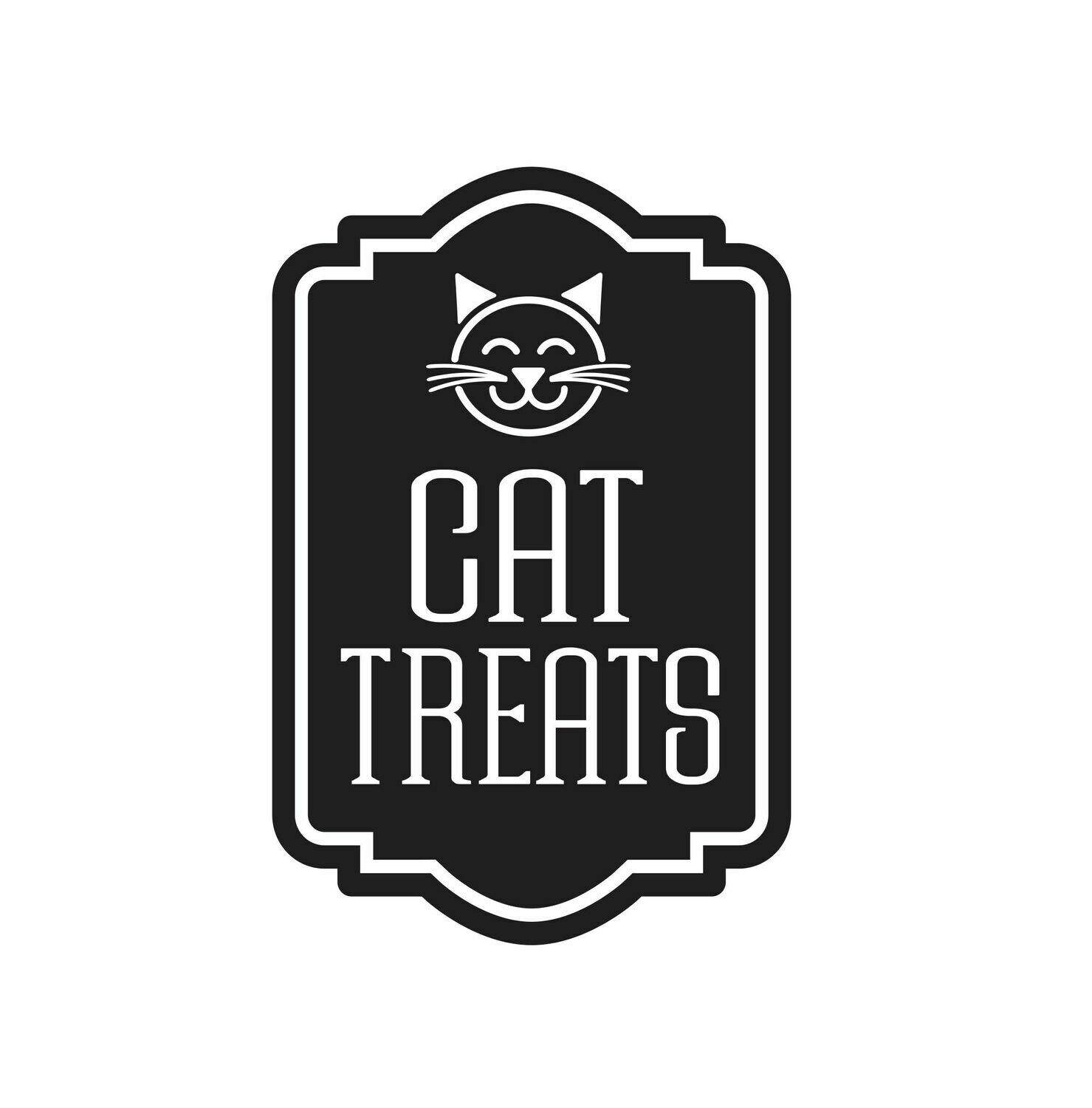 Cat Treats Decal - happy cat face