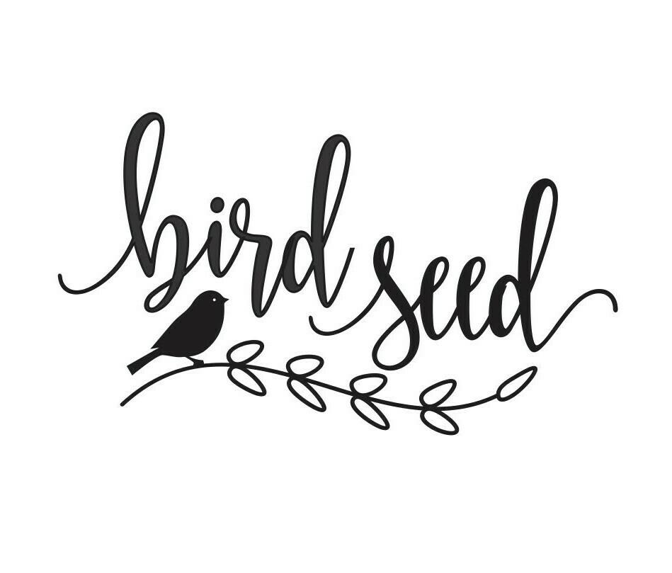 Bird Seed Decal - script style