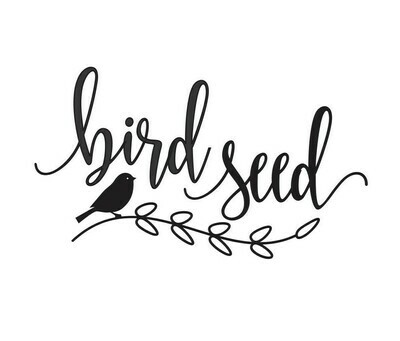 Bird Seed Decal - script style