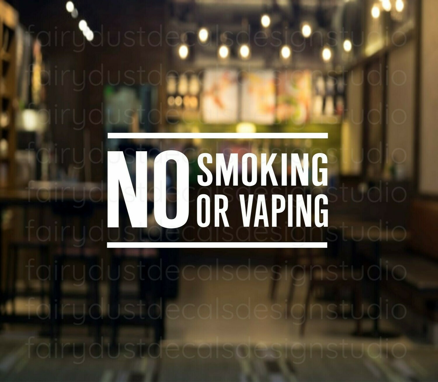 No Smoking or Vaping Decal