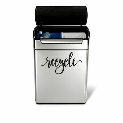 Recycle Decal - script style
