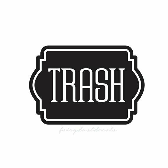 Trash Decal