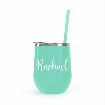 Mint Green Wine Tumbler