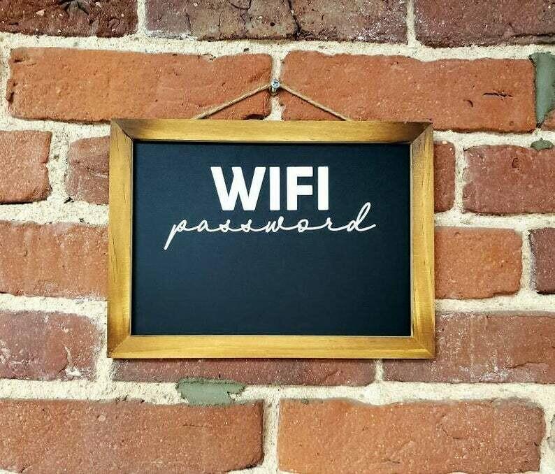 WIFI password sign