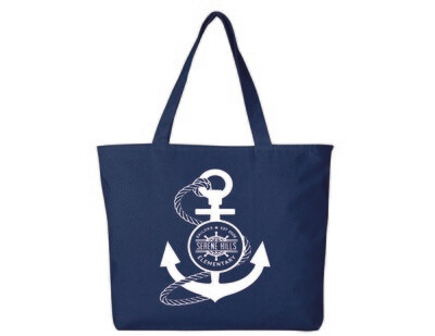 Large Canvas Tote Bag with Zipper Closure